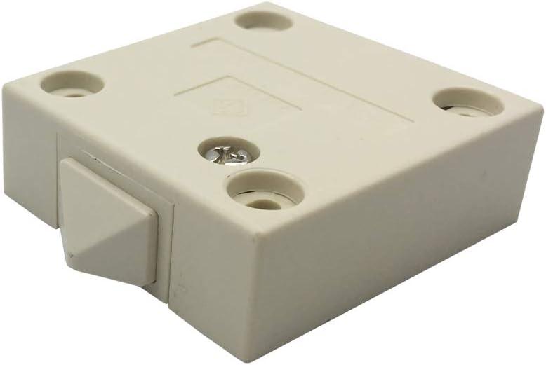 Ouvert Quand linterrupteur est Pouss/é FUJIE Commutateur darmoire Encastrer /à Contact Momentan/é Interrupteur Automatique pour Placards Interrupteurs de Porte de Meuble Noir