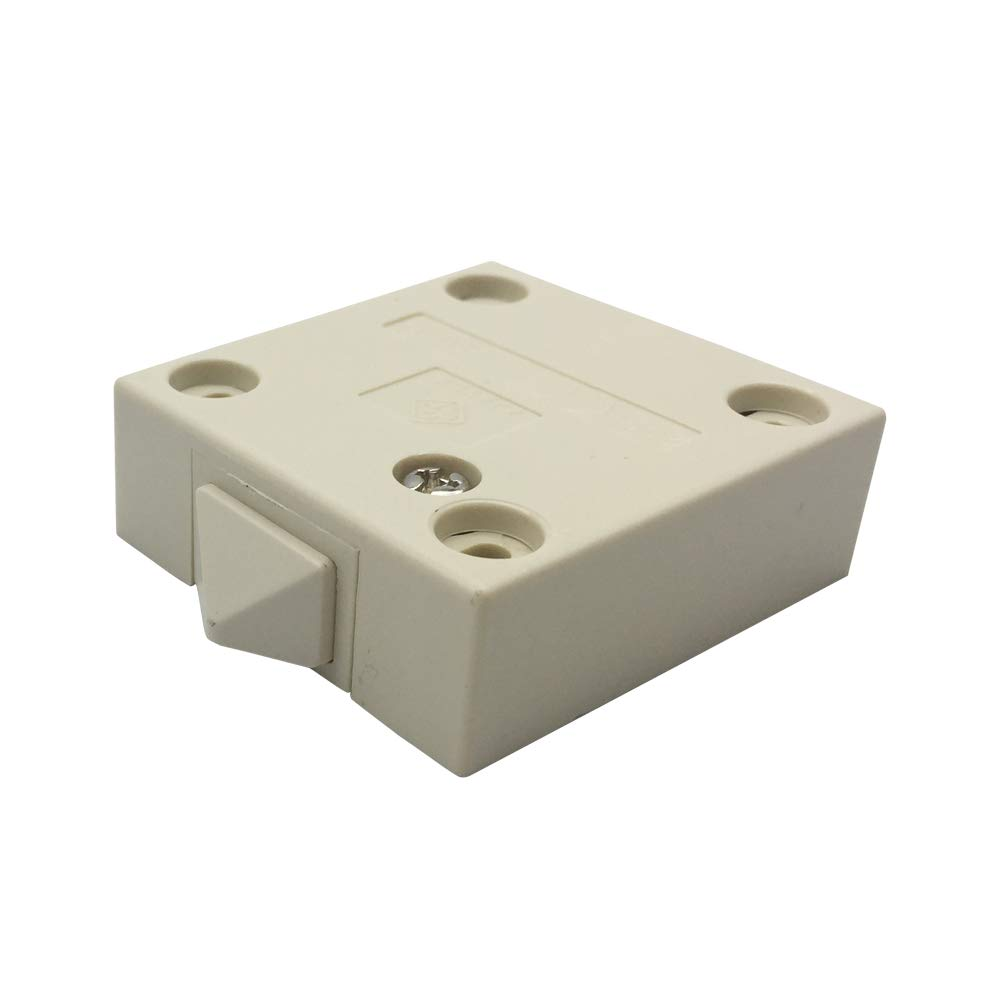 FUJIE Interruptor de la puerta Empuje de superficie Interruptor de contacto para puerta de mueble Iluminaci/ón Interruptor autom/ático 2A 250V la luz de puerta del interruptor del empuje Blanco