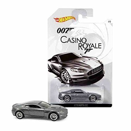 Hot Wheels, 2015 Exclusive James Bond 007, Casino Royale Aston Martin DBS Silver 1/5