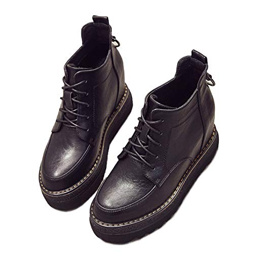 Shukun Bottes Automne Et Bottes Hiver Chaussures Martin Bottes Et Femme À L'intérieur Épaississement 8Cm Bottes À Bottes Courtes 37|black 1c38a5