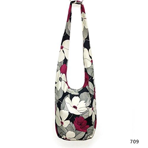 Story Hippie Cotton Print Thai Bag Girls Sling Crossbody Fashion 709 Messenger Paisley Hobo Women's Purse RBWdqTxX