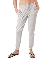 Drawstring French Terry Joggers With Front Pockets (Small, Heathergrey)