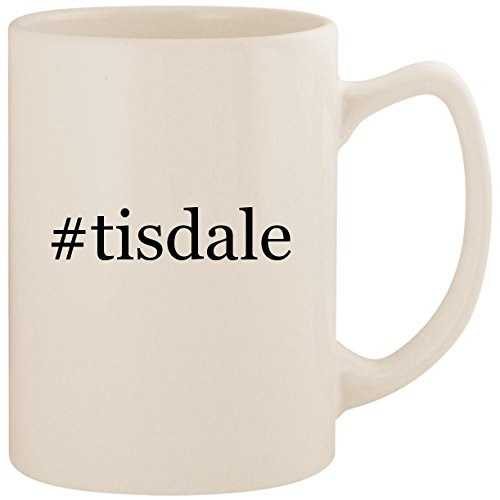 #tisdale - White Hashtag 14oz Ceramic Statesman Coffee Mug Cup