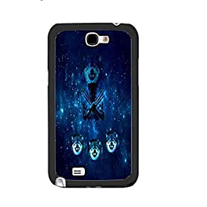Wolf Heads Snp on Hard Case Cover Protector for Samsung Galaxy Note 2 N7100 (galaxy space blacks1140)