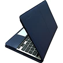 Navy Blue mCoque PU leather case for ASUS C201PA/C201 Chromebook 11.6-Inch (Model C201PA series)