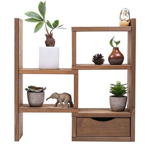 Sunnyglade 3-Tiers Small Plant Stand Wood Plant Stand for Succulent Tabletop Window Flower Garden Rack Indoor Desk - Shelf Tabletop