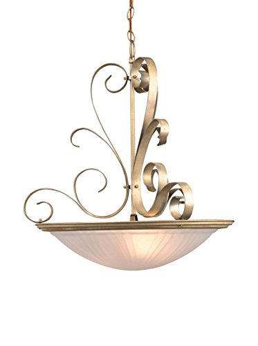 Hilite Glass Pendant - Lite Source LS-1053PEARL Variance Ceiling Lamp with Glass Shade, 20
