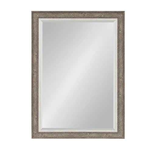 Kate and Laurel Woodway Framed Wall Mirror 29.5×41.5 Gray