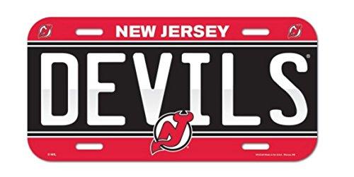 Wincraft NHL New Jersey Devils 6x12 Plastic License -