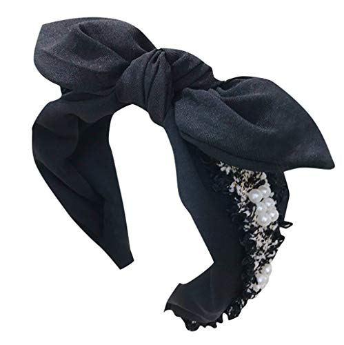 Landscape Boho Headband For Women Vintage Flower Printed Criss Cross Head Wrap Twisted Cute Rabbit Ears Hair Accessories