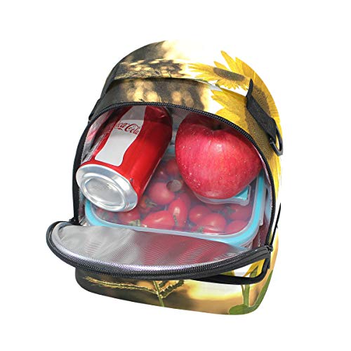 enfriador de girasol doble bolsa Bandolera para correa ajustable almuerzo picnic wqvgSxPX