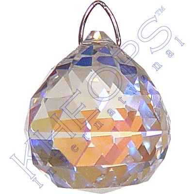 Ab Faceted Crystal (Prism Crystal 20 mm Faceted Sphere AB)