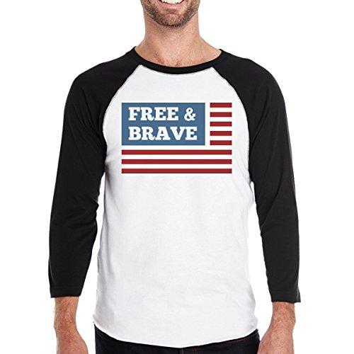 365 Us Size Free Camiseta de Brave Printing corta Flag para manga hombre One PBPrS8wqcp