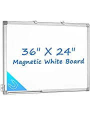 Magnetic White Board 36 x 24 Dry Erase Board Wall Mounted