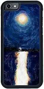 ديكالاك كفر حماية لهاتف ايفون 7، بتصميم لوحة زيتية للقمر منتصف الليل ، متعدد الالوان