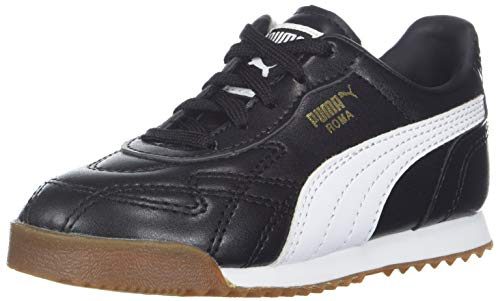 (PUMA Boys' Roma ANNIVERSARIO Sneaker, Black White, 6.5 M US Big)