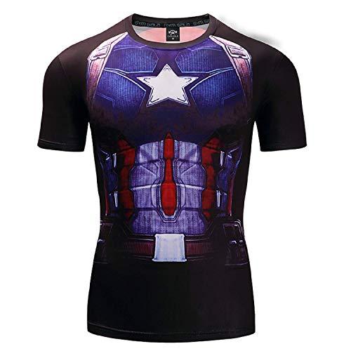 CosplayLife Captain America-2 T-Shirt (XXL) ()