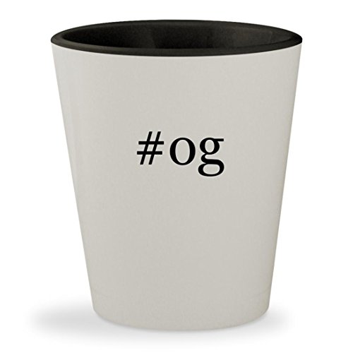 Price comparison product image #og - Hashtag White Outer & Black Inner Ceramic 1.5oz Shot Glass