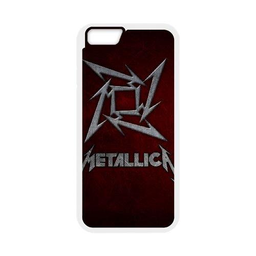 Metallica 009 iPhone 6 Plus 5.5 Inch Fall hülle Abdeckung Weiß Handy Tasche EOKXLKNBC27722