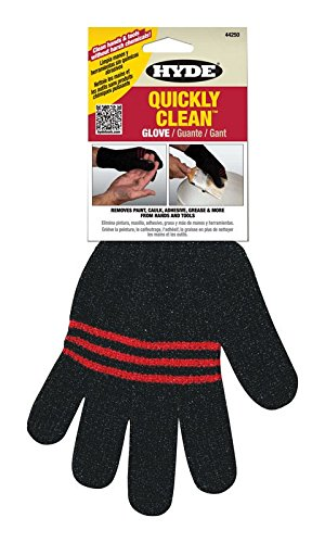 Hyde 44250 Quickly Clean Hand and Tool Cleaning Glove, Black