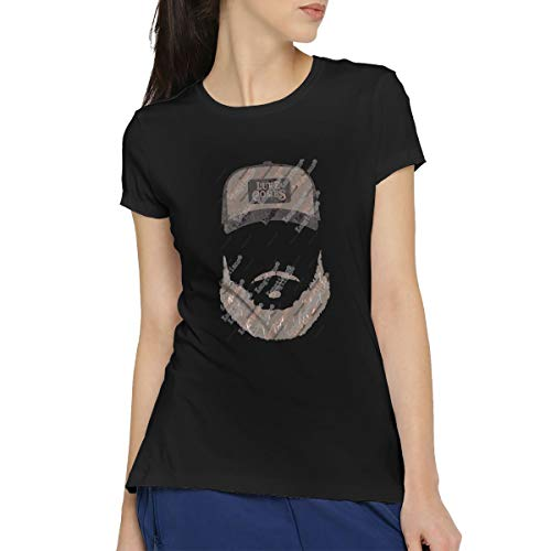 Kangtians CLANN Luke Combs Heather Stone Beard Women's Short Sleeve T-Shirt XXL Black (Fake Beards For Sale That Look Real)