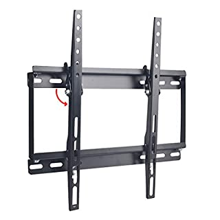 WEVZENEY Wall Mount Bracket for 26-55 Inch LED, LCD Flat Screen TVs, TV Mount up to VESA 400 mm and 132 LBS, One-Piece Wall Plate Easy for TV Centering