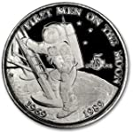1989 MH Marshall Islands 5 Dollar Man on the Moon BU Copper Brilliant Uncirculated