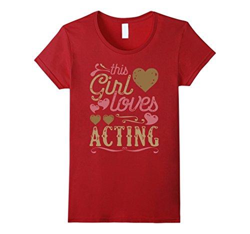 Womens Acting Shirt - Actress Tshirt Gift Acting Tee Present Medium Cranberry - Actress Gift
