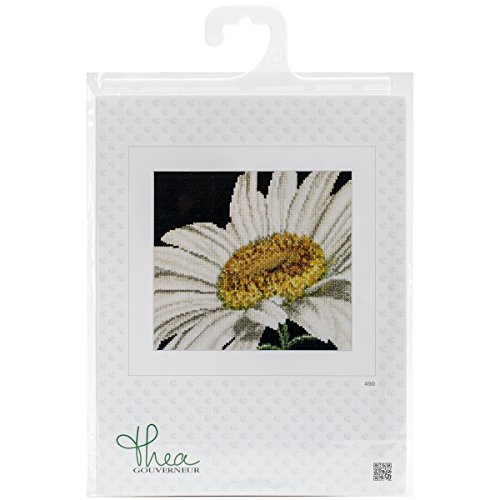 Thea Gouverneur 18 Count Marguerite on Aida Counted Cross Stitch Kit, 6 x ()