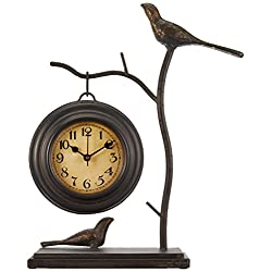 Imax 16159 Bird and Branch with Hanging Clock – Handcrafted Wall Clock, Decorative Clock, Home Decor. Home Decor Accents