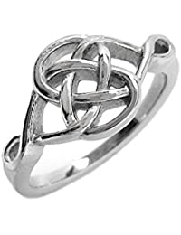 Stainless Steel Celtic Knot Love Promise Committment Ring (Size 5 - 10)
