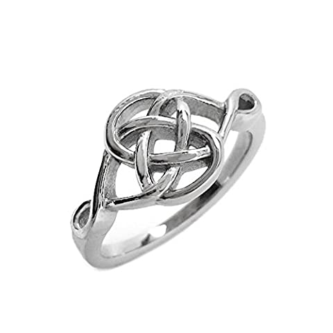 Stainless Steel Celtic Knot Irish Love Promise Committment Ring (Size 7) - Celtic Love Symbol