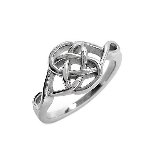Stainless Steel Celtic Knot Irish Love Promise Committment Ring (Size 6)