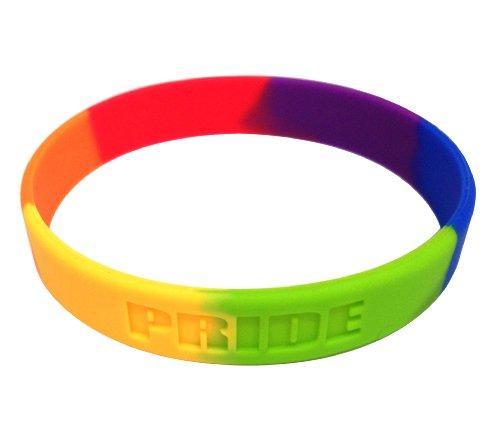 Rainbow Flag Lgbt Pride Silicone Gay Lesbian Wristband Bracelet