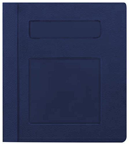PDC Healthcare CBS22NB Poly Binder, Side Open, 3-Ring, Blank Front, 4'', Navy Blue by PDC Healthcare
