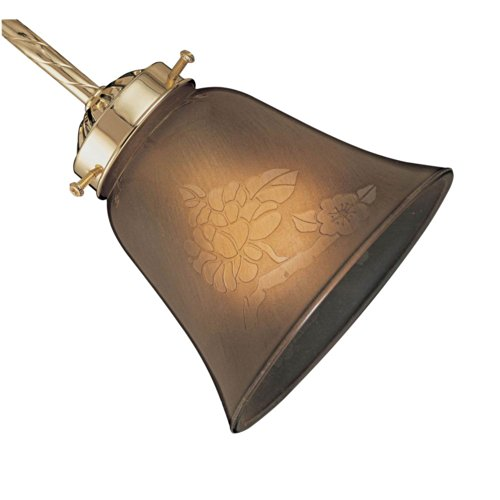 (Neckless Side Glass Shade in Antique Amber Scavo )