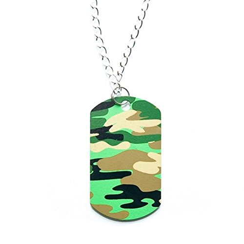 Camouflage Dog Tag Necklaces - 12 per pack