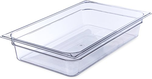 Carlisle 10201B07 StorPlus Full Size Polycarbonate Food Pan, 4
