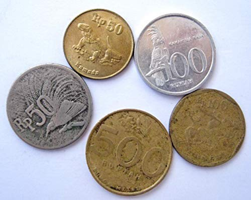 ID 1971 Lot of Indonesian Indonesia Coins rupiah rupee Very Fine