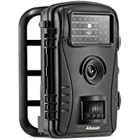 Trail Camera, Abask Game And Hunting Wildlife Camera With Waterproof Case Digital 2.4 LCD Screen HD 50 ft Night Vision Distance, Black