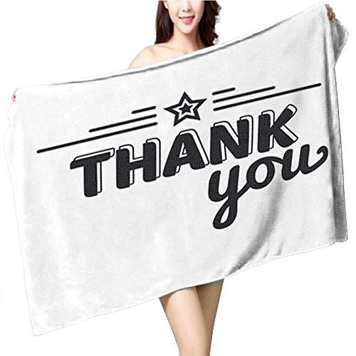 fengruiyanjing Soft & Absorbent Bath Towel-Thanksgiving Funny Cartoon Turkey Cook Serving Pumpkin Pie and Holding a Fork Vector Cartoon Isolate Fade Resistant Towel Size:39.4 x 19.7 INCH