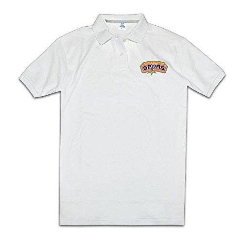 San Antonio Spurs Tim Duncan Tony Parker Modern Man's Polo Shirt (Spurs Tony Parker Shirt)