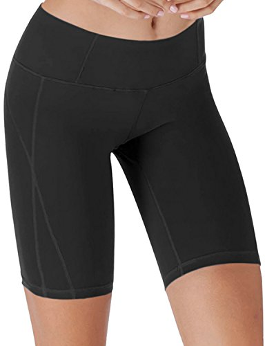 Yogareflex - Yoga Shorts for Women - Workout Yoga Short - Hidden Pocket (From XS to 3XL) , Black , XX-Large