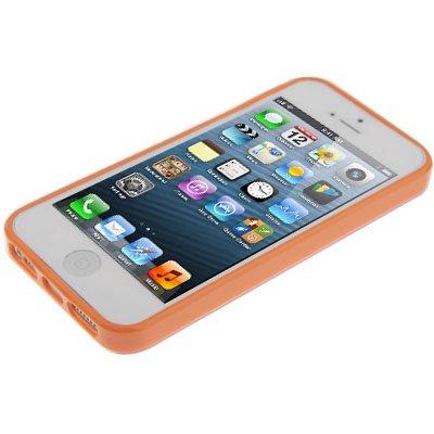 """iPhone 5 / 5S Hülle / Case aus Silikon in orange im """"Triangle-Style"""" -Original nur von THESMARTGUARD-"""