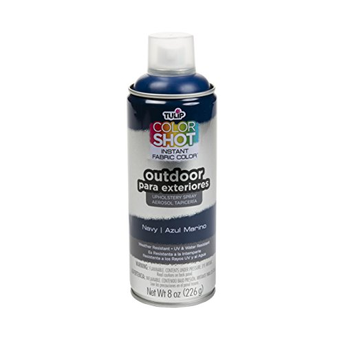 Aerosol Fabric Paint (Tulip ColorShot Outdoor Upholstery Spray Navy)