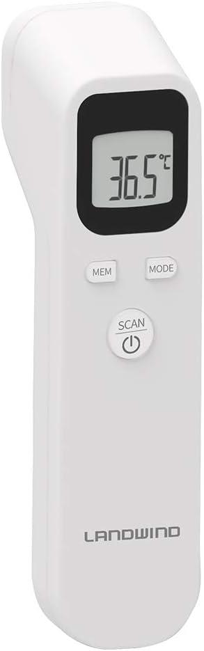 Alarma de Fiebre Multifunci/ón 4 en 1 Lectura instant/ánea para Ni/ños LANDWIND FT118 Term/ómetro Digital Beb/é Objetos y Ambiente Term/ómetro Infrarrojo de Frente Adultos