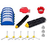 Accessory for Irobot Roomba 770, 780, 790, 650 Series Vacuum Cleaner Replacement Part Kit - Includes 1Pcs Bristle Brush and Flexible Beater Brush,5Pcs Filters,5Pcs 3-Armed Brushes,Cleaning Tool