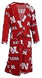 Nebraska Cornhuskers NCAA Men's Scatter Pattern Micro Fleece Robe