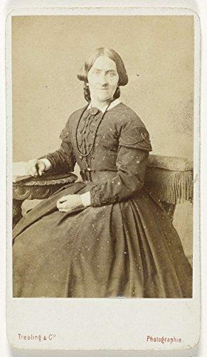 Classic Art Poster - Portrait of a woman, Tresling & Comp, 1860 1880