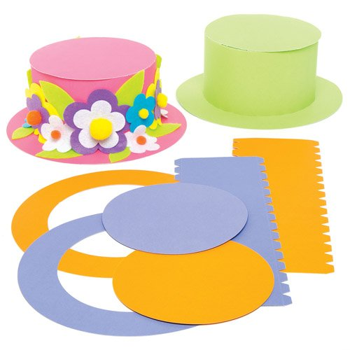 Amazon Com Baker Ross Colored Top Hat Craft Kits For Children To